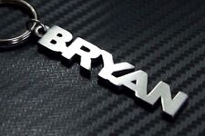 BRYAN Personalised Name Keyring Keychain Key Fob Bespoke Stainless Steel Gift