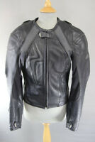 HEIN GERICKE PRO SPORTS LEATHER BIKER JACKET WITH REMOVABLE CE PROTECTORS: 36 IN