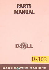 Doall 2012-A and 2013, Contour Sawing Machine, parts List Manual 1971