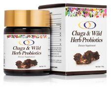 Chaga Mushroom and Wild Herb Probiotics Dietary Supplement and Wellness Herb