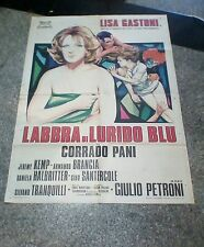 LABBRA DI LURIDO BLU manifesto 2F originale 1975