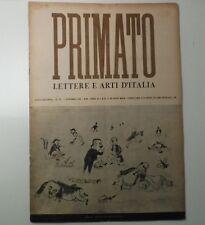LISI N.,PIOVENE Guido,BONSANTI Alessandro, Primato, ottobre 1941
