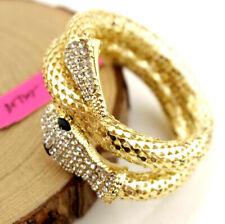 Jewelry Betsey Johnson Fashion Rhinestone Punksu Multi-strand snake bracelets