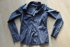 Amisu Damen Bluse Blau Silbergrau gestreift Größe S Business