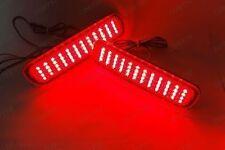 2x Red Lens LED for LEXUS LX470 Rear Bumper Reflector Tail Brake Stop Fog Light
