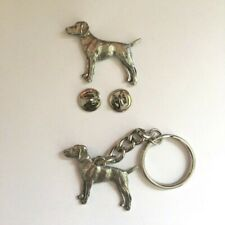 Hungarian Vizsla Badge Pin Brooch or Keyring Copyrighted Pewter Gift Box Option