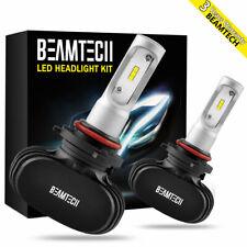 BEAMTECH 9005 HB3 LED Headlight Bulb Fanless 50W 6500K 8000LM CSP Light KIT Pair