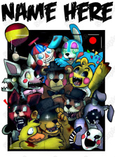 Five Nights at Freddys  Personalized  T Shirt Iron on Transfer #1