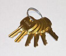 Set of 6 Keys C346A, C390A, C413A, C415A, C420A, C642A fit CompX National Locks