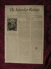 SATURDAY REVIEW June 8 1929 Clyde K. Hyder Henry Seidel Canby Christopher Morley