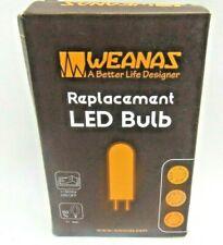 Weanas 4x E12  1.5W AC 110V LED BULB ENERGY SAVER  WARM WHITE.2800K-3500K NEW