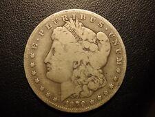 1879 cc Morgan silver dollar, clear cc
