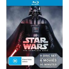 STAR WARS - The Complete Saga - Blu-Ray 9 Disc Set (BRAND NEW & SEALED)