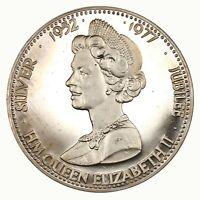 Raw 1977 Great Britain Proof Queen Elizabeth II Jubilee Commemorative
