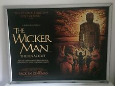 The Wicker Man Original Quad Cinema Poster. BFI. Rare. Dan Mumford Art