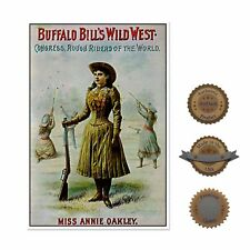 "13""×19"" Historic Art Poster ~ Reproduction: ANNIE OAKLEY Lady Marksman Gun Rifle"