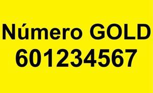 Número601234567 Gold Platinum VIP (numeración de teléfono móvil) fácil sencillo