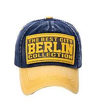 ROBIN RUTH Cap The Best City Berlin Collection NEU/OVP Mütze Kappe gelb/blau