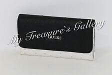 NEW Guess Tambako SLG Slim Small Wallet Checkbook Clutch Black Multi NWT