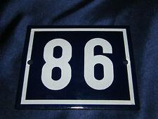 EMAILLE Nr.98 od 86 12x10cm EMAIL HAUS SCHILD HAUSNUMMER PARZELLE SCHREBERGARTEN