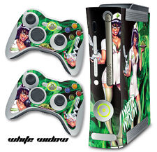 Skin Decal Wrap for Xbox 360 Original Gaming Console & Controller WHITE WIDOW