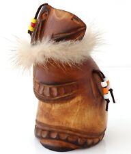 Raven Kutkh Hand Carved Wood Sculpture Figurine Russian Kamchatka Folk Craft Art