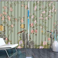 Brown Birds Rockery 3D Curtain Blockout Photo Printing Curtains Drape Fabric