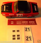 KIT ADESIVI stickers RESTAURO FIAT ABARTH 124 RALLY 1/24 BBURAGO BURAGO MARTOYS
