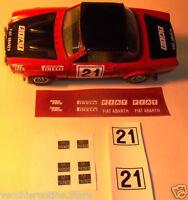 KIT ADESIVI stickers RESTAURO FIAT ABARTH 124 RALLY 1/24 BBURAGO BURAGO MARTOYS