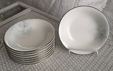"6 Mikasa CAG09 ROMANTICA 5.75"" FRUIT BOWLS Pale Blue/Gray On White Bone China"