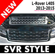 Range Rover Vogue 2013 + Black Chrome Front Grille Gloss SVR Style shape autobi