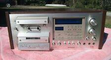 PIONEER CT-F1250 Vintage 3 Head, 2 Motor Cassette Tape Deck  Working