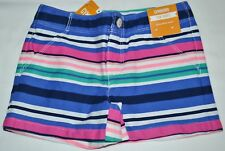 Gymboree Shore To Love Blue Pink & Green Striped Sun Shorts 8 Kid Girls NWT