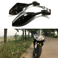 Motorcycle LED Turn Signal Mirrors For Yamaha YZF R7 R6S R6 1000R YZF600R FZ750