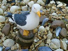 Large Seagull On Post Model Figurine /Bathroom /Nautical Fishing Boat Beach Sea