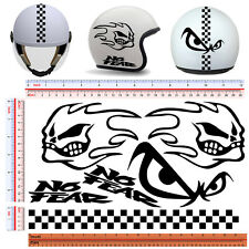 adesivi casco no fear nero scontornato sticker helmet pvc black cropped 6 pz.