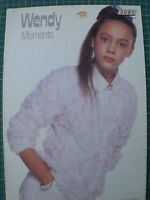 Childrens Knitting Pattern - Wendy Moments 3087 4 Patterns 24-32 in
