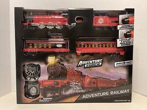 Adventure Railway Locomotive Train Set With Smoke Lights & Sounds (REMOTE)