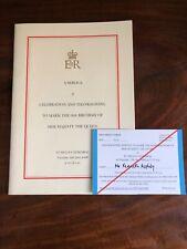 Queen Elizabeth II Service Thanksgiving St Pauls Royal Memorabilia Collectible