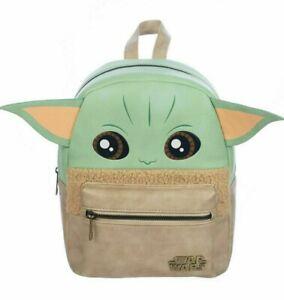 Star Wars The Mandalorian Child Grogu Baby Yoda figural mini backpack Bioworld