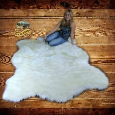 White Buffalo Faux Fur Area Rug Shag Pelt Hide Throw Carpet FUR ACCENTS