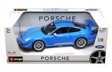 BBURAGO 1:18 PORSCHE 911 GT3 RS 4.0 Diecast Model Car Blue Color 18-11036