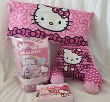 6 pc Sanrio Hello Kitty Twin Comforter, Sheet, Body & Bed Rest Pillow Set NIP