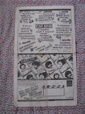 org Mabuhay Gardens Month Schedule #133 punk flyer 8.5x14 kbd hardcore vintage