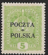 Poland stamps 1919 MI 30 signed  MLH  VF