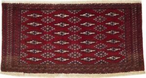 Vintage Red Tribal Style 2X3 Hand-Knotted Oriental Rug Wool Kitchen Decor Carpet