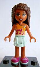 Lego Friends Figur orange braun Magenta Mädchen Neu Andrea