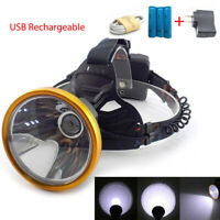 T6 LED Headlamp Rechargeable USB Head Light Lamp Torch Headlights 18650 Camping