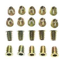 20Pcs M6x13mm Zinc Plated Hex Socket Screw in Thread Insert Nut for Wood