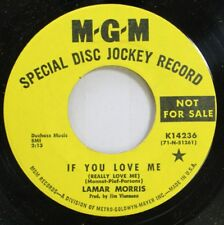 Country Promo 45 Lamar Morris - If You Love Me / Pour The Wine On M-G-M
